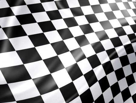 checkered flag: Checkered racing flag - high detailed background Stock Photo