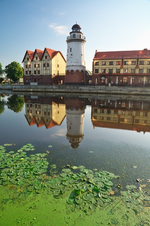 ethnographic: Fishing Village  Ethnographic and trade center in Kaliningrad  Russia