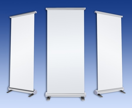 rollup: Blank rol-up banner display