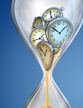 Hourglass time clock with sand Stock Photo