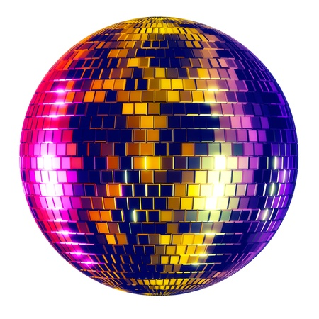 Disco ball - isolated on white background 版權商用圖片 - 15527411