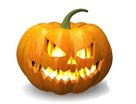 smirking: Scary Jack O Lantern halloween pumpkin