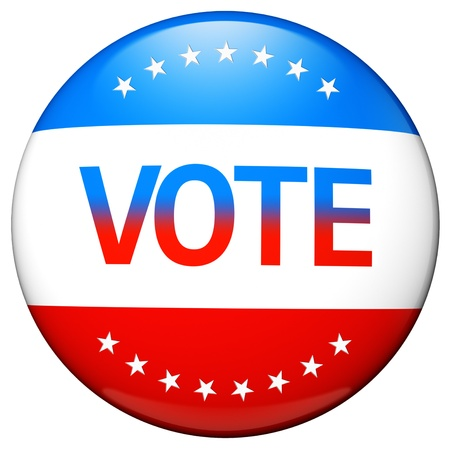 Vote election campaign glossy badge photo