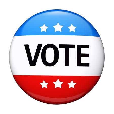 suffrage: Vote election campaign glossy badge