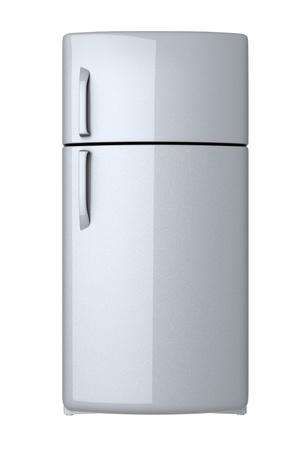 kühl: Moderne K�hlschrank - isoliert auf wei�em Hintergrund