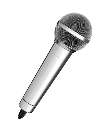 mic: Microphone - isolated on white background