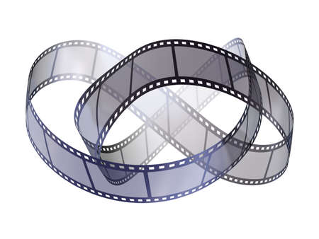 filmroll: Film strip - isolated on white backgrounds
