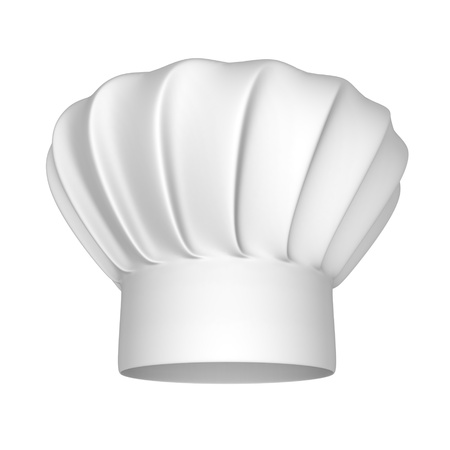 chef 3d: Chef hat - isolated on a white background