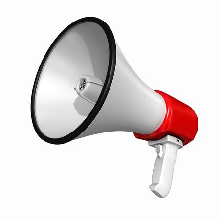 Lautsprecher oder Megaphon - isoliert auf weißem Hintergrund Standard-Bild - 17163526