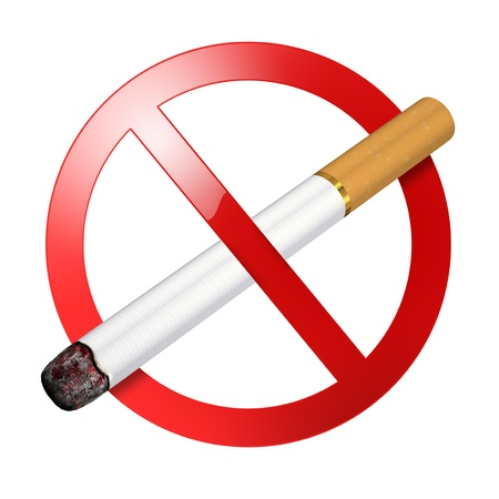 No smoking sign - isolated on white background photo