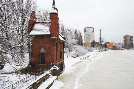 baron: Home of Baron Munchausen in Kaliningrad. Russia Stock Photo