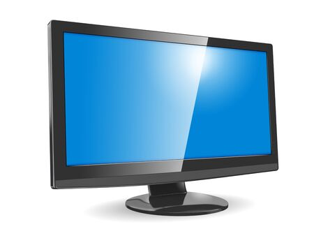 flat screen tv: Modern widescreen display on white background