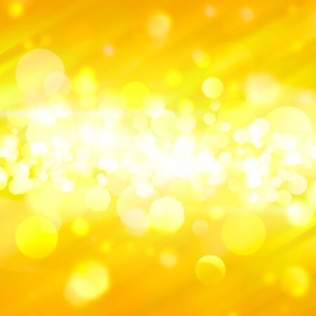 Yellow bokeh abstract background with rays photo