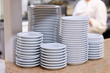 Clean dishes in the kitchen
