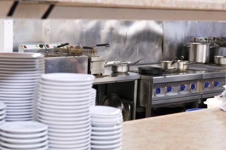 A kitchen in a restaurant  photo