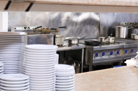 catering service: A kitchen in a restaurant