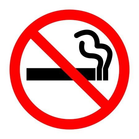 stop smoking: No smoking sign