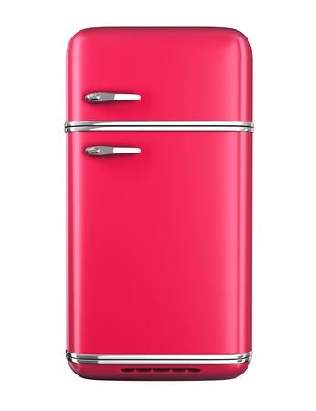 Retro refrigerator - isolated on white background 版權商用圖片 - 20480417