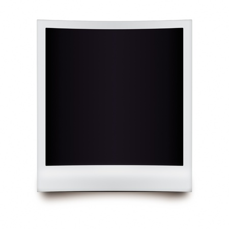 Empty photo frame - isolated on white background