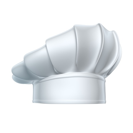 chef hat: Chef hat - isolated on white background