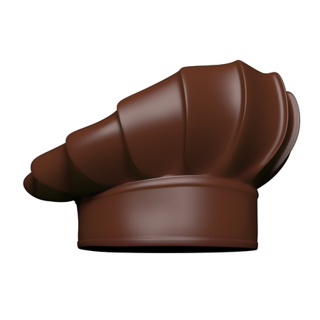 Chocolate chef hat - isolated on white background  photo