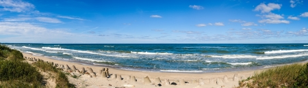Baltic Sea beach panorama