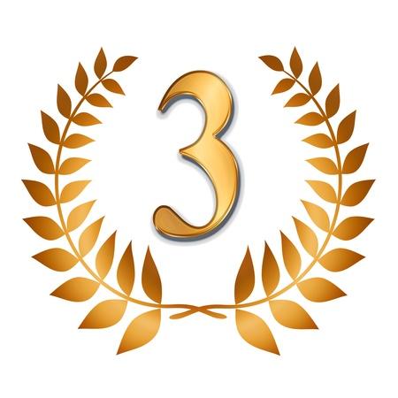 Etiqueta de bronce Ganador - el tercer puesto