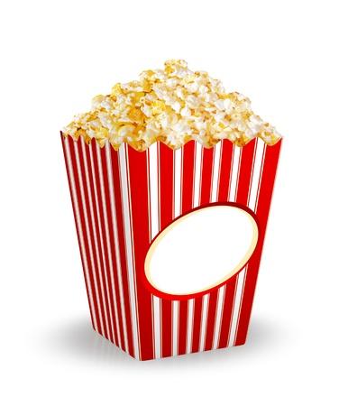 intermission: Box of Popcorn  Stock Photo