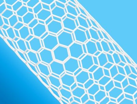 nanotube: Nanotube structure on blue background  Stock Photo
