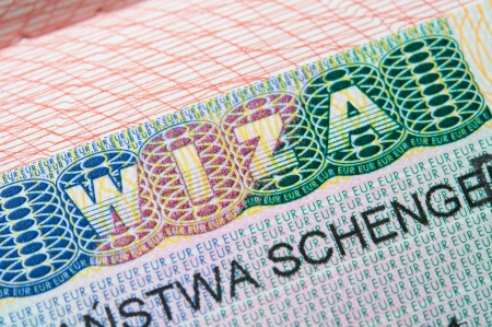 schengen: Schengen Visa in passport