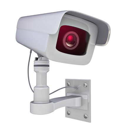 deterrent: Secure camera isolated on a white background