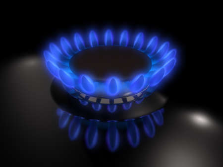 gas burner: Gas burner  Stock Photo