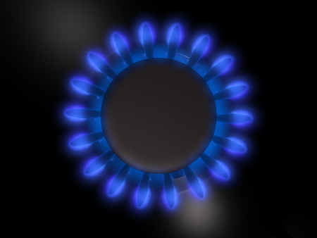 out of gas: Gas burner  Stock Photo