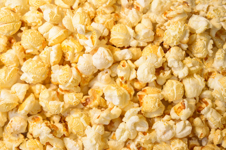 Popcorn on the whole background  photo