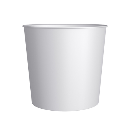 Paper bucket - Isolated on white background photo