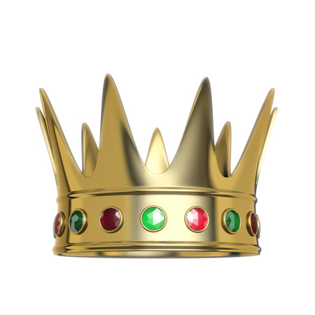 corona: Golden crown isolated on white background