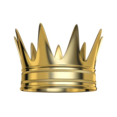 corona: Golden royal crown isolated on white background