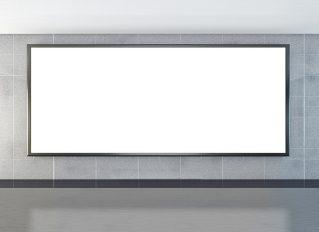 Blank billboard or lcd screen ready for new advertisement  photo