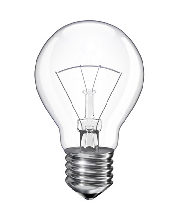 gas lamp: Light bulb - isolated on white background, 3d render