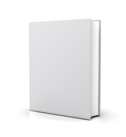 album cover: Blank white book cover - isolated on white background