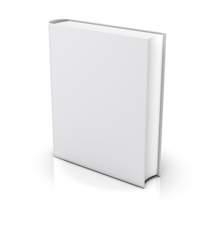 Blank white book cover - isolated on white background photo