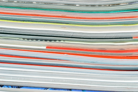 Close-up of magazine pages. Shallow DOF photo