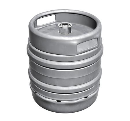 steel bar: Beer keg - isolated over white background