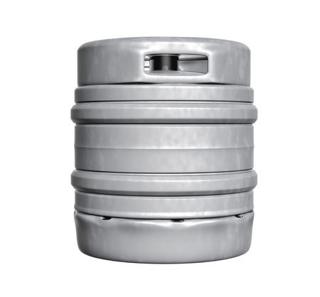 barrels: Beer keg - isolated over white background