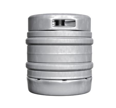 Biervat - geïsoleerd op witte achtergrond