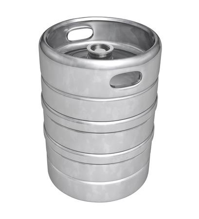 Beer keg - isolated over white background