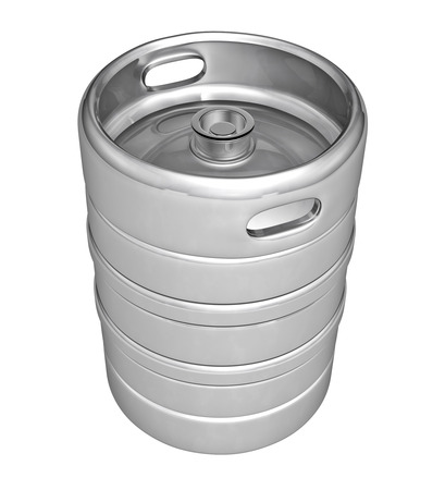 stopper: Beer keg - isolated over white background