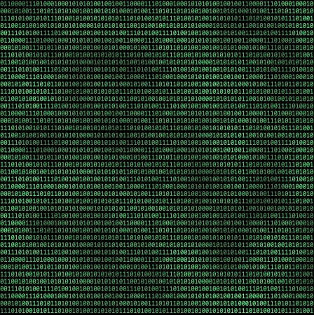 binary matrix: Binary computer code