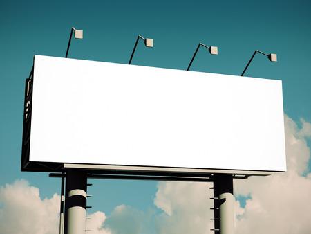 Billboard with empty screen, with retro toning Standard-Bild
