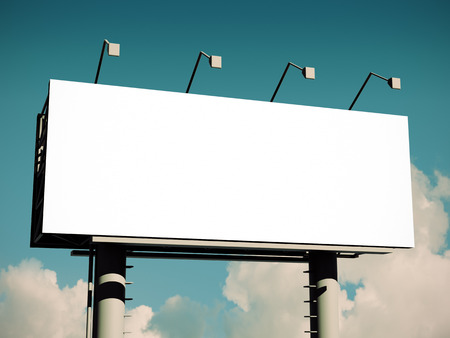 Billboard with empty screen, with retro toning Stock Photo
